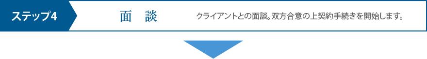 ステップ4 面談
